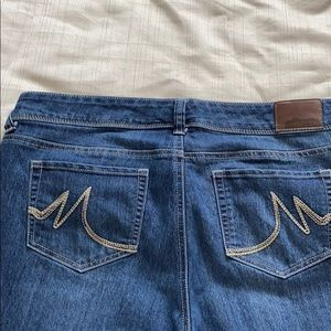 Maurices 16 short straight leg jeans